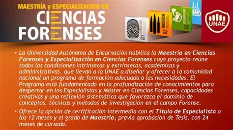 Ciencias forenses - UNAE