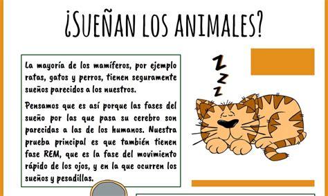 CIENCIAS PARA TODOS Ficha nº 1: ¿Sueñan los animales? Con ...