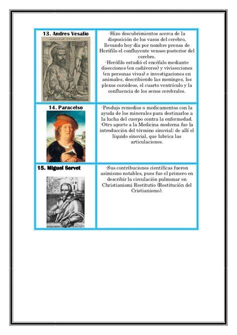 Cientificos y sus aportaciones a la bilogia