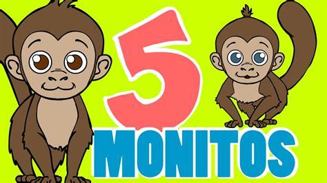 CINCO MONITOS ???? Canciones Infantiles   Dibujos Animados ...