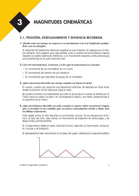 Cinematica3 FISICA Y QUIMICA 2º Bachillerato Solucionario