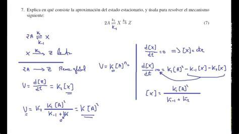Cinética química. Aproximación al estado estacionario ...
