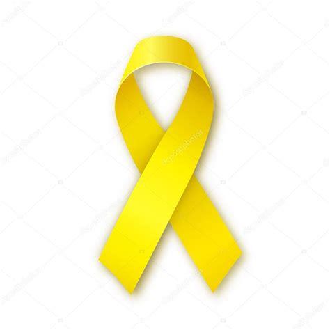 Cinta amarilla de la conciencia. Símbolo de hueso cáncer y ...