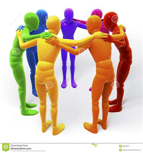 Circle, Group Of Colored Figures, People Stock ...
