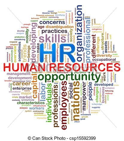 Circular design hr human resources word tags wordcloud ...