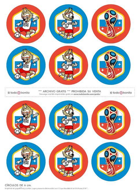 Círculos cupcakes. Mundial de fútbol Rusia 2018. | cajas y ...