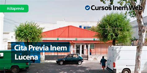 Cita Previa INEM Lucena | Cursosinemweb.es