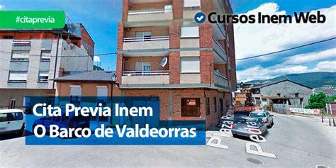 Cita Previa INEM O Barco de Valdeorras | Cursosinemweb.es