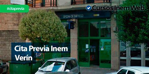 Cita Previa INEM Verín | Cursosinemweb.es