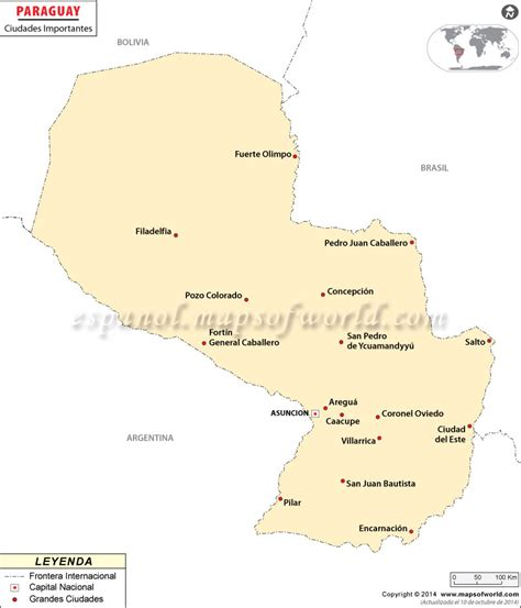 Ciudades de Paraguay , Ciudades Importantes de Paraguay