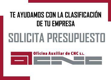Clasificación de empresas contratistas sector publico CNC