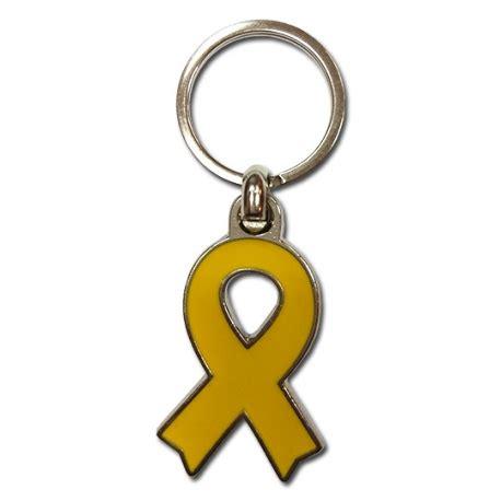 Clauer llaç groc de metall en suport presos polítics catalans