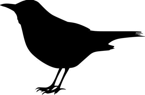 Clipart - Blackbird Silhouette