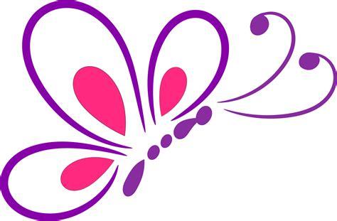 Clipart   Butterfly Line Art 2