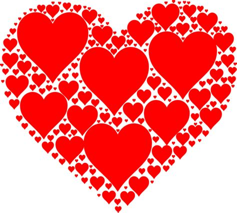 Clipart - Hearts In Heart