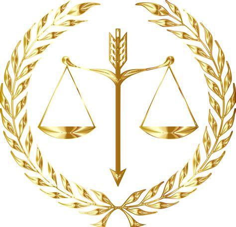 Clipart   Justice Emblem Gold No Background