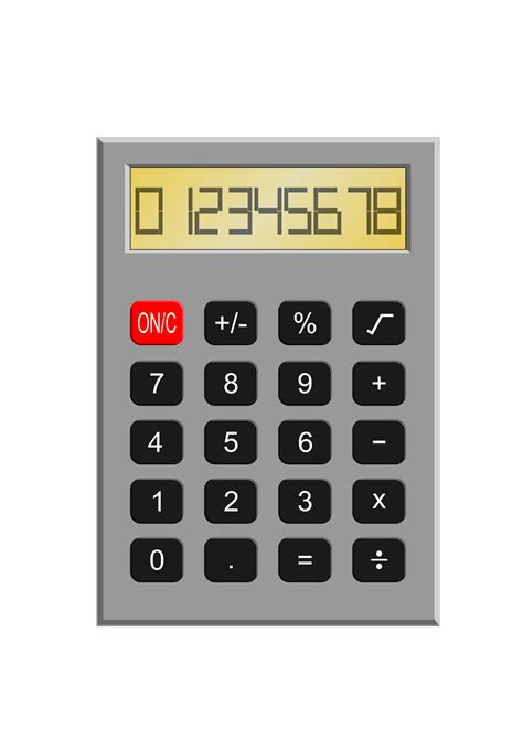 Clipart - Old Calculator