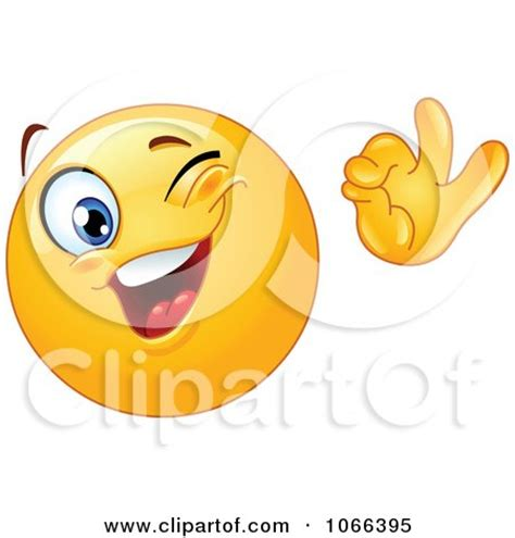 Clipart Winking OK Emoticon   Royalty Free Vector ...
