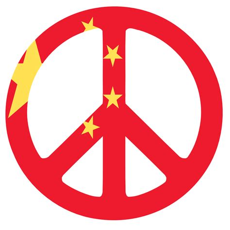 clipartist.net » Clip Art » china flag peace sign chinese ...