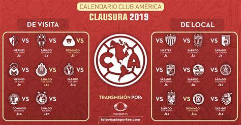 Club America Calendario 2018 2019   www.imagenesmy.com