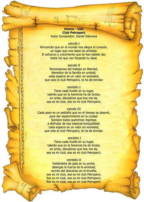 Club Petroperu > Nosotros > Himno del Club