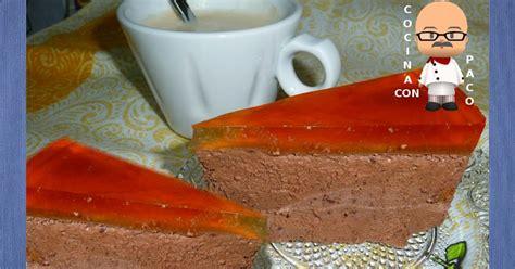 Cocina con Paco: Tarta mousse de chocolate y gelatina de ...