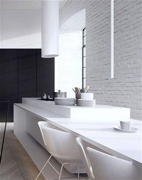 Cocinas con ladrillo Visto Blanco   Kansei Cocinas ...