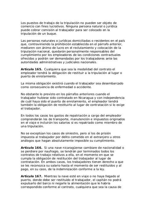 Código del trabajo nicaragua (la gaceta, 30 de octubre de ...