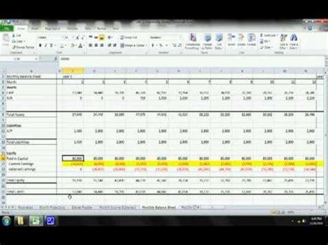 Coffee Shop Start-Up Financial Model - Balance Sheet ...