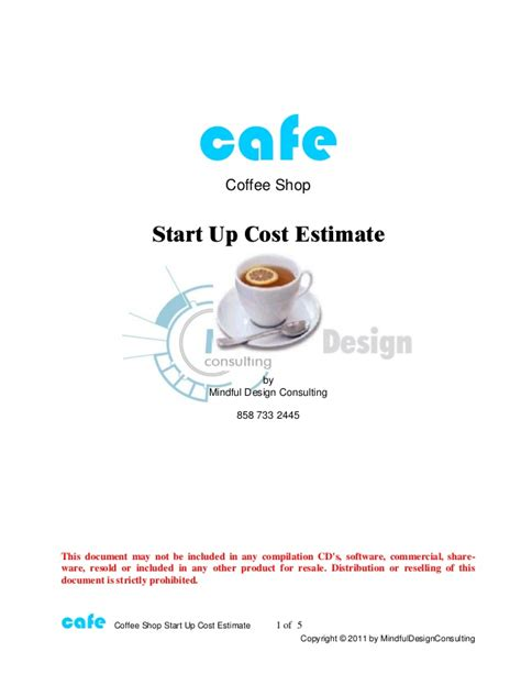 Coffee shop-start-up-free-estimate