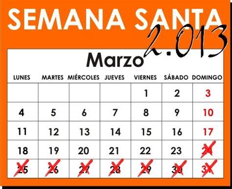 COFRADES de DAIMIEL: Calendario Cofrade