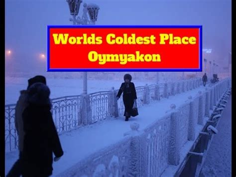 Coldest place in the world Russia Oymyakon   Most Coldest ...