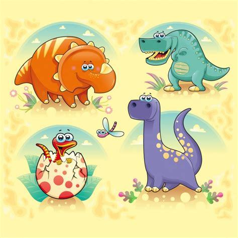 Colección de de dinosaurios a color | Descargar Vectores ...
