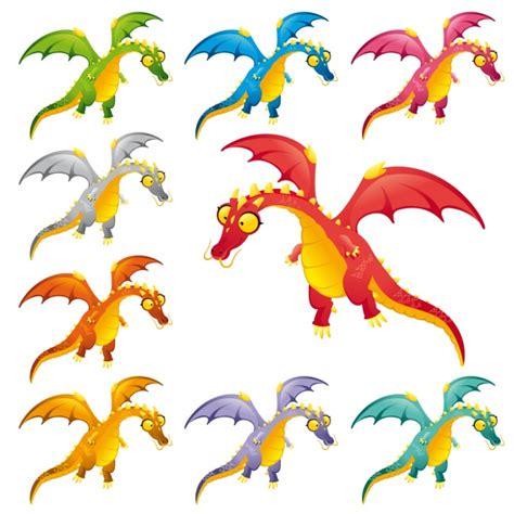 Colección de dinosaurios a color | Descargar Vectores gratis