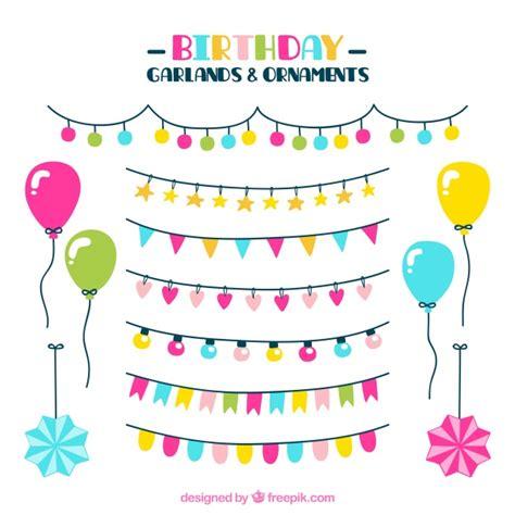 Colección de guirnaldas y adornos para cumpleaños ...