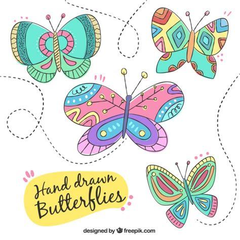 Colección de mariposas dibujadas a mano | Descargar ...