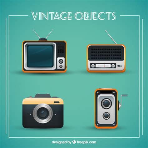 Colección de objetos vintage | Descargar Vectores gratis