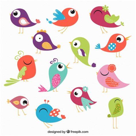 Colección de pájaros de colores   Descargar Vectores gratis