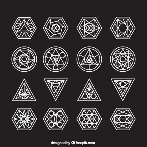 Colección de símbolos abstractos con contorno | Descargar ...