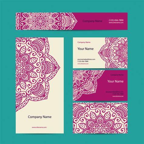 Colección de tarjetas de visita de estilo boho | Descargar ...