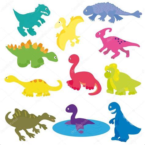 Colección de vectores de diversos tipos de dinosaurios de ...