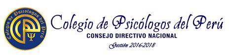 Colegio de Psicólogos del Perú CONSEJO DIRECTIVO NACIONAL