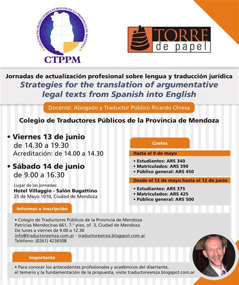 Colegio de Traductores Públicos de la Provincia de Mendoza ...