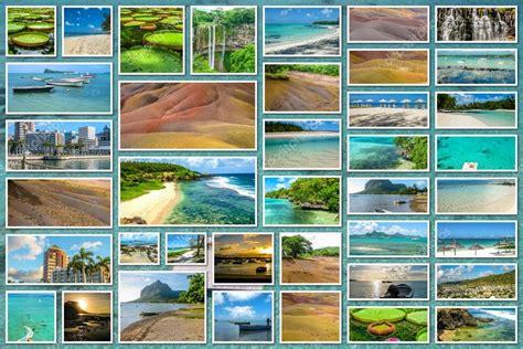 Collage de paisajes de Isla Mauricio — Foto de stock ...