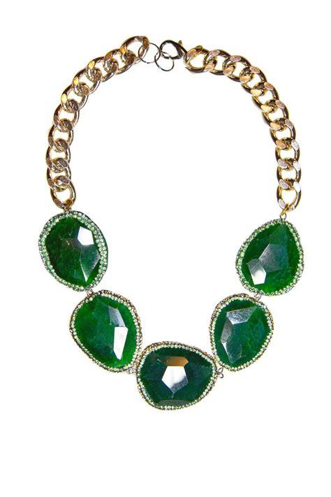 collar piedras semipreciosas verdes y cristales swarovski