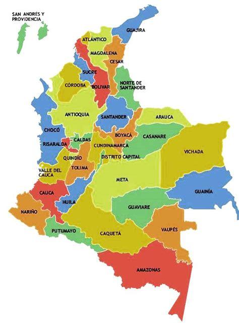 Colombia Mapa Politico Administrativo   kalendaryo HD