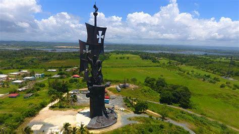 Colon Statue in Arecibo, Puerto Rico - YouTube
