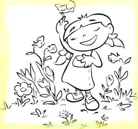 Colorea Dibujo De Primavera | Imágenes de Primavera