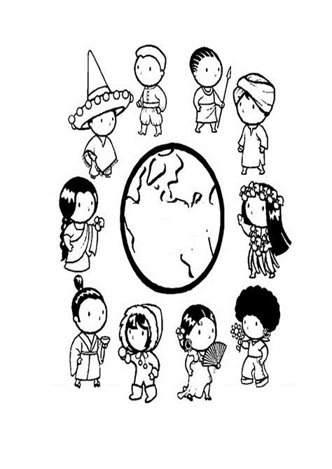 COLOREA TUS DIBUJOS: Dibujo de Niños en Todo el Mundo para ...