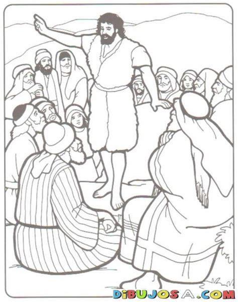 Colorear a Juan el Bautista Predicando | COLOREAR BIBLICOS ...